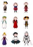 Cartoon medieval people Royalty Free Stock Image