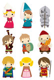 Cartoon Medieval people icon Royalty Free Stock Photo