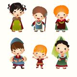 Cartoon Medieval people icon. Set Royalty Free Stock Photography