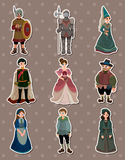 Cartoon Medieval people stickers Royalty Free Stock Images