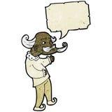 Cartoon medieval scholar. Retro cartoon with texture. Isolated on White Stock Image