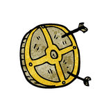 Cartoon medieval shield Royalty Free Stock Photos