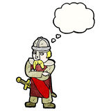 Cartoon medieval soldier Royalty Free Stock Images