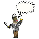 Cartoon medieval soldier Stock Photography