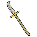 Cartoon medieval spear Stock Images