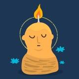 Cartoon meditation Royalty Free Stock Photography