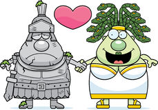 Cartoon Medusa Love Royalty Free Stock Photos