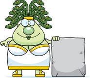 Cartoon Medusa Sign Royalty Free Stock Image