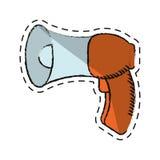Cartoon megaphone loudspeaker sound marketing Stock Image