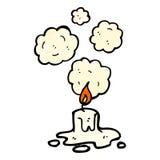 Cartoon melting candle Stock Photos
