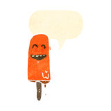 Cartoon melting ice lolly Stock Images