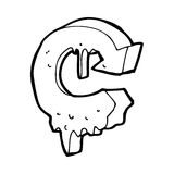 cartoon melting recycling symbol Royalty Free Stock Image