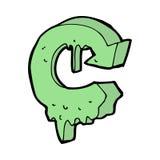 cartoon melting recycling symbol Stock Photos