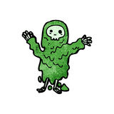 Cartoon melting slime zombie Stock Images