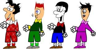 Cartoon men Stock Photo