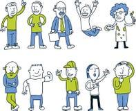 Cartoon Men Set Royalty Free Stock Image