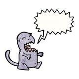 Cartoon meowing cat Stock Photos