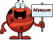 Cartoon Mercury Sign royalty free illustration