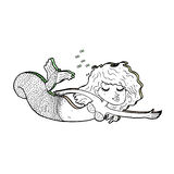 Cartoon mermaid Royalty Free Stock Photos