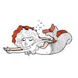 Cartoon mermaid Stock Photography