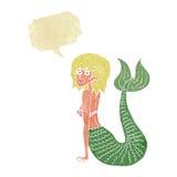 Cartoon mermaid with speech bubble Stock Photo