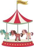 Cartoon merry-go-round Stock Image