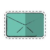 Cartoon message envelope email communication Royalty Free Stock Photography
