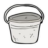 Cartoon metal bucket. Hand drawn cartoon illustration in retro style.  Vector available Stock Photo