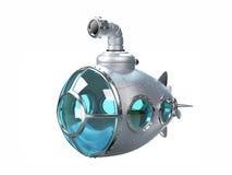 Cartoon metallic submarine Royalty Free Stock Photo