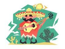 Cartoon mexican man Stock Image