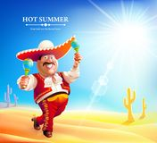 Cartoon mexican man Royalty Free Stock Images