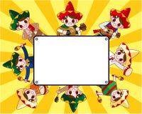 Cartoon Mexican music band ,board card Stock Photos