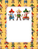 Cartoon Mexican music band ,board card Stock Photography