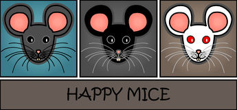 Cartoon mice header Royalty Free Stock Photo