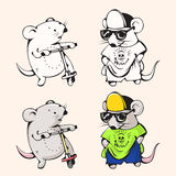 Cartoon mice Royalty Free Stock Photos
