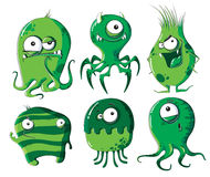 Cartoon microbes and bacteria Royalty Free Stock Photography