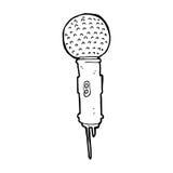 Cartoon microphone Stock Photos
