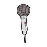 Cartoon microphone Stock Image