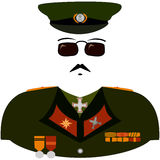 Cartoon militarist uniform Stock Photo