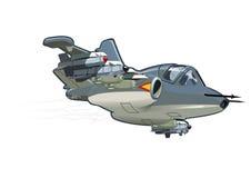 Vector Cartoon Attack Plane Su-25 Frogfoot (Rook) Stock Photos