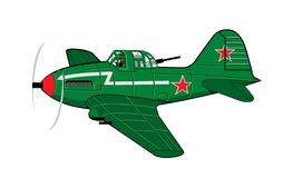 Cartoon Military Airplane Royalty Free Stock Images