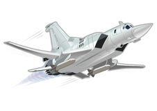 Vector Cartoon Bomber Tu-22 Blinder. Vector Cartoon Bomber. Available EPS-10 vector format separated by groups and layers for easy edit Stock Photography