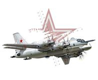 Cartoon Military Airplane Royalty Free Stock Photography