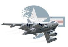 Cartoon Military Airplane Royalty Free Stock Photos