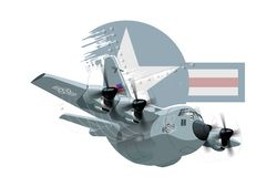 Cartoon Military Airplane Stock Photo