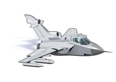 Vector Cartoon Fighter Plane Tornado. Vector Cartoon Fighter Plane. Available EPS-10 vector format separated by groups and layers for easy edit Stock Image