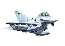 Vector Cartoon Eurofighter Typhoon Royalty Free Stock Images