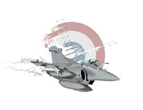 Cartoon Military Airplane. Vector Cartoon Fighter Plane. Available EPS-10 vector format separated by groups and layers for easy edit Stock Image