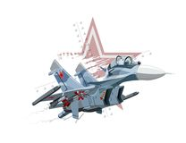 Cartoon Military Airplane Royalty Free Stock Image