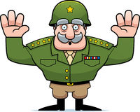 Cartoon Military General Surrender Stock Image